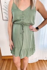 Sadie Light Olive Tiered Dress