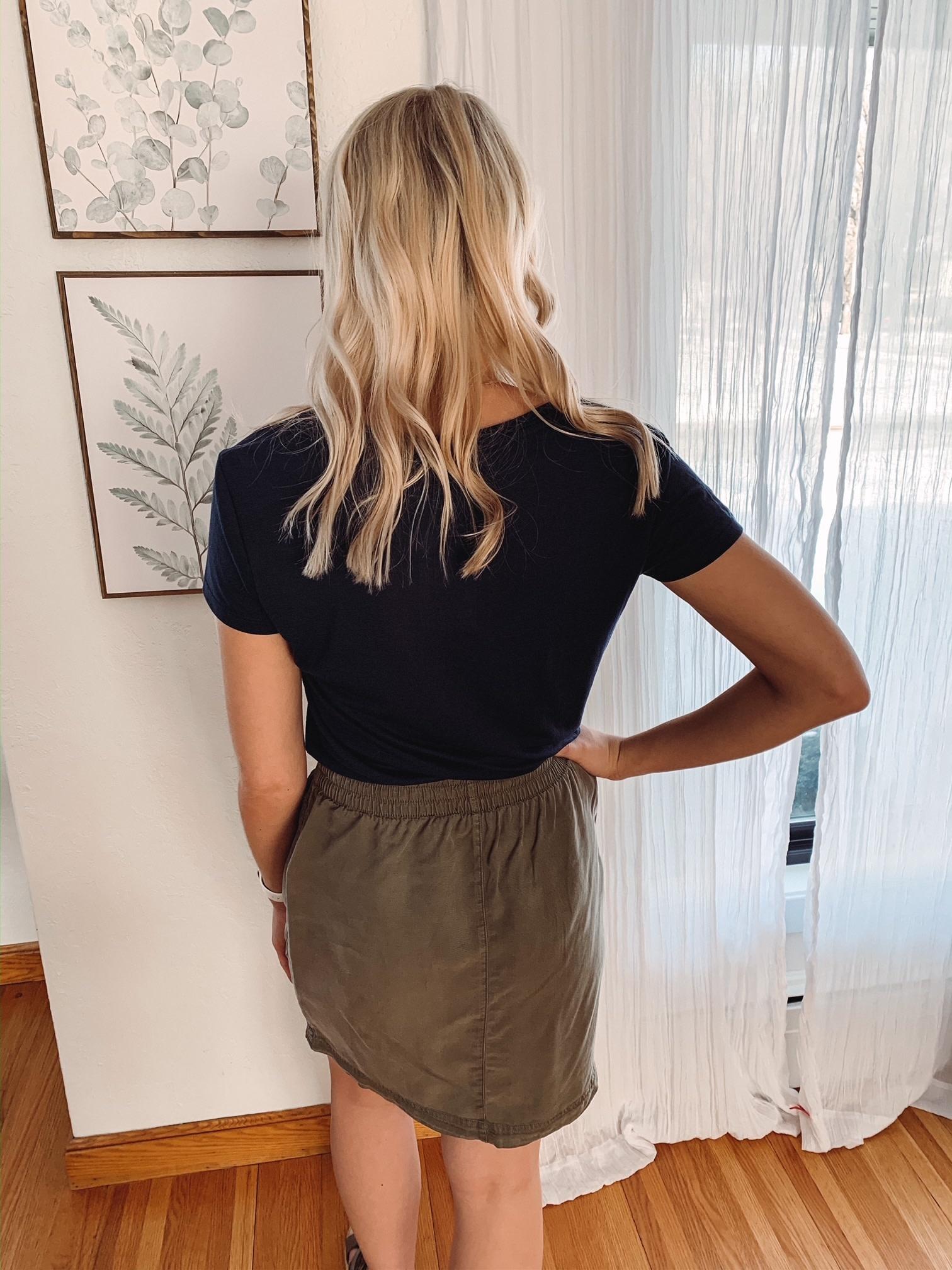 Lindsey Olive Cargo Skirt