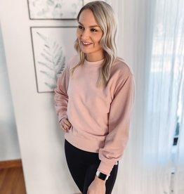 Taryn Blush Cord Sweatshirt