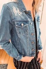 Kancan Mia Distressed Denim Jacket