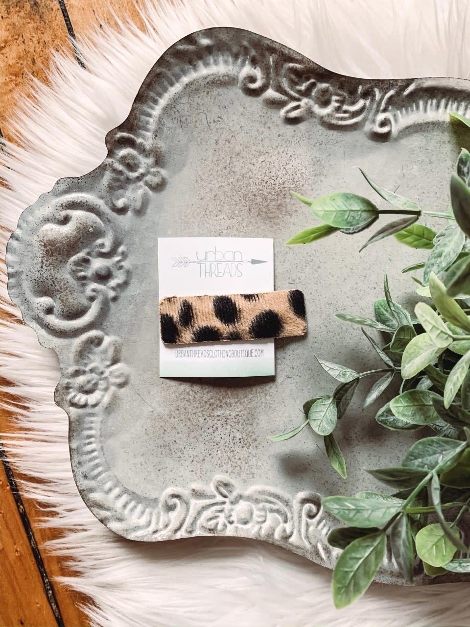 Leopard Hair Barette