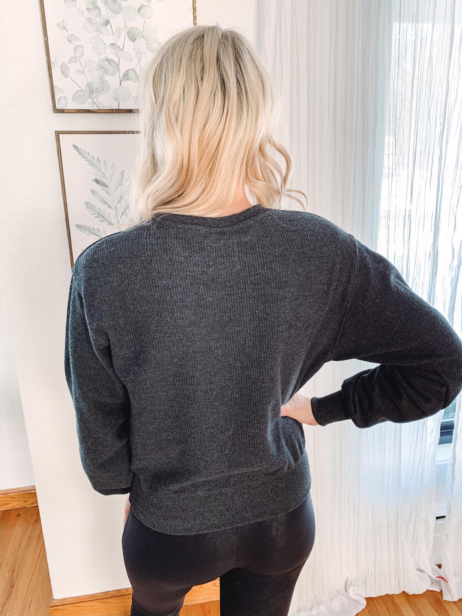 Taryn Charcoal Sweatshirt
