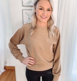 Taryn Taupe Cord Sweatshirt