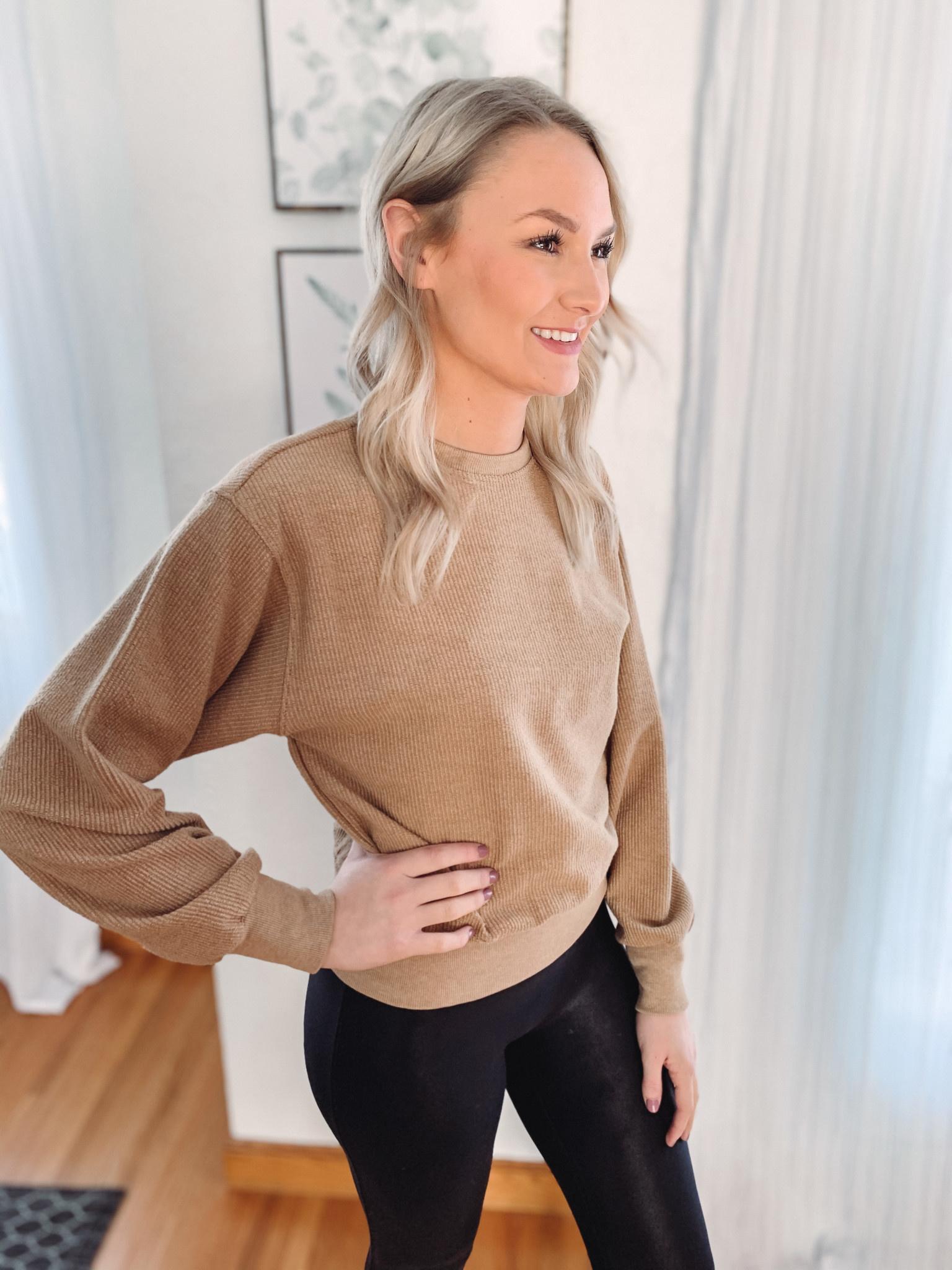 Taryn Taupe Sweatshirt