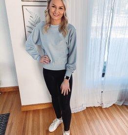 Taryn Slate Blue Cord Sweatshirt
