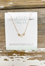 Rose Gold Triple Heart Necklaces