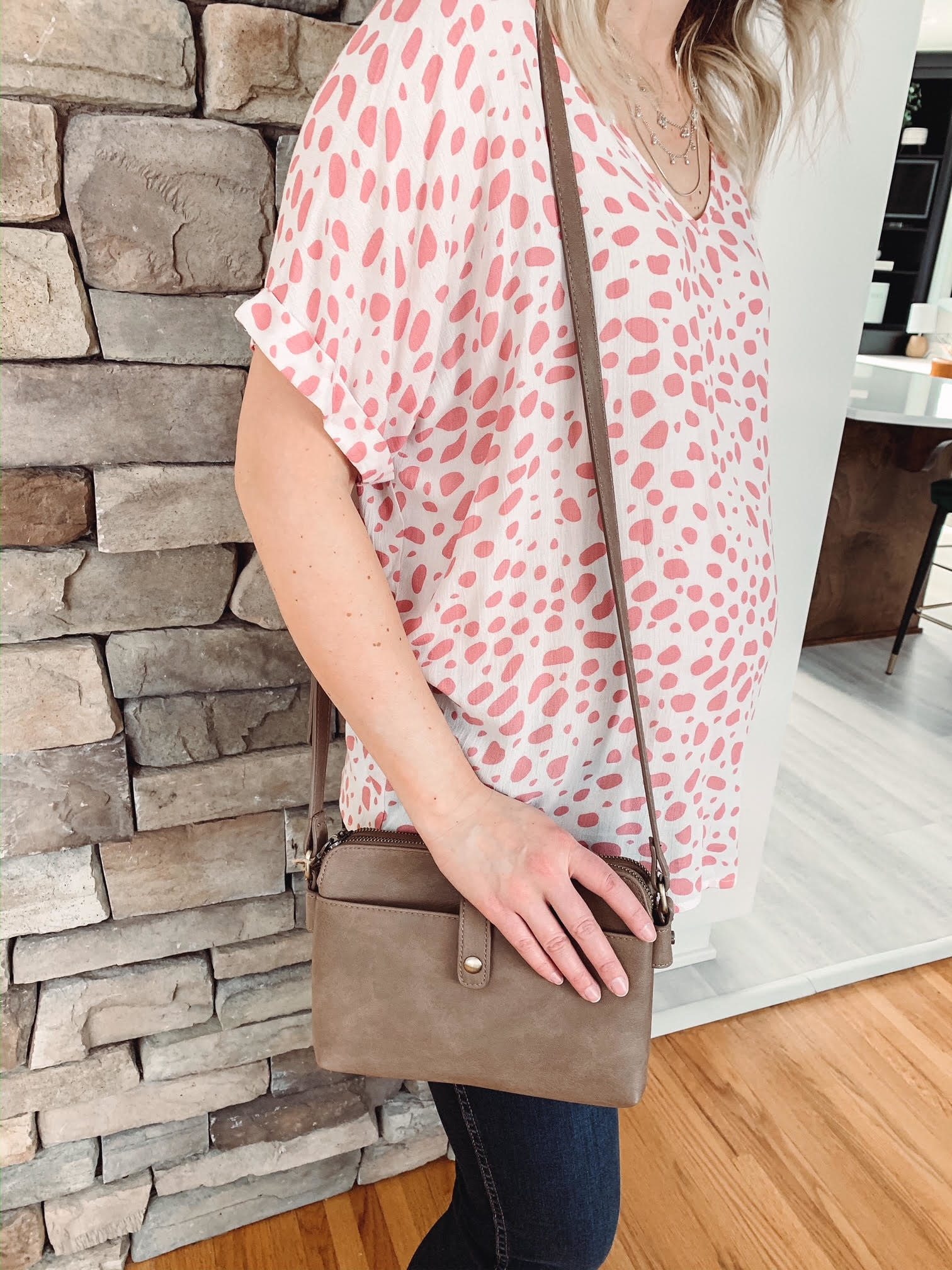 Lily Taupe Crossbody