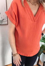 Brynne Coral Blouse