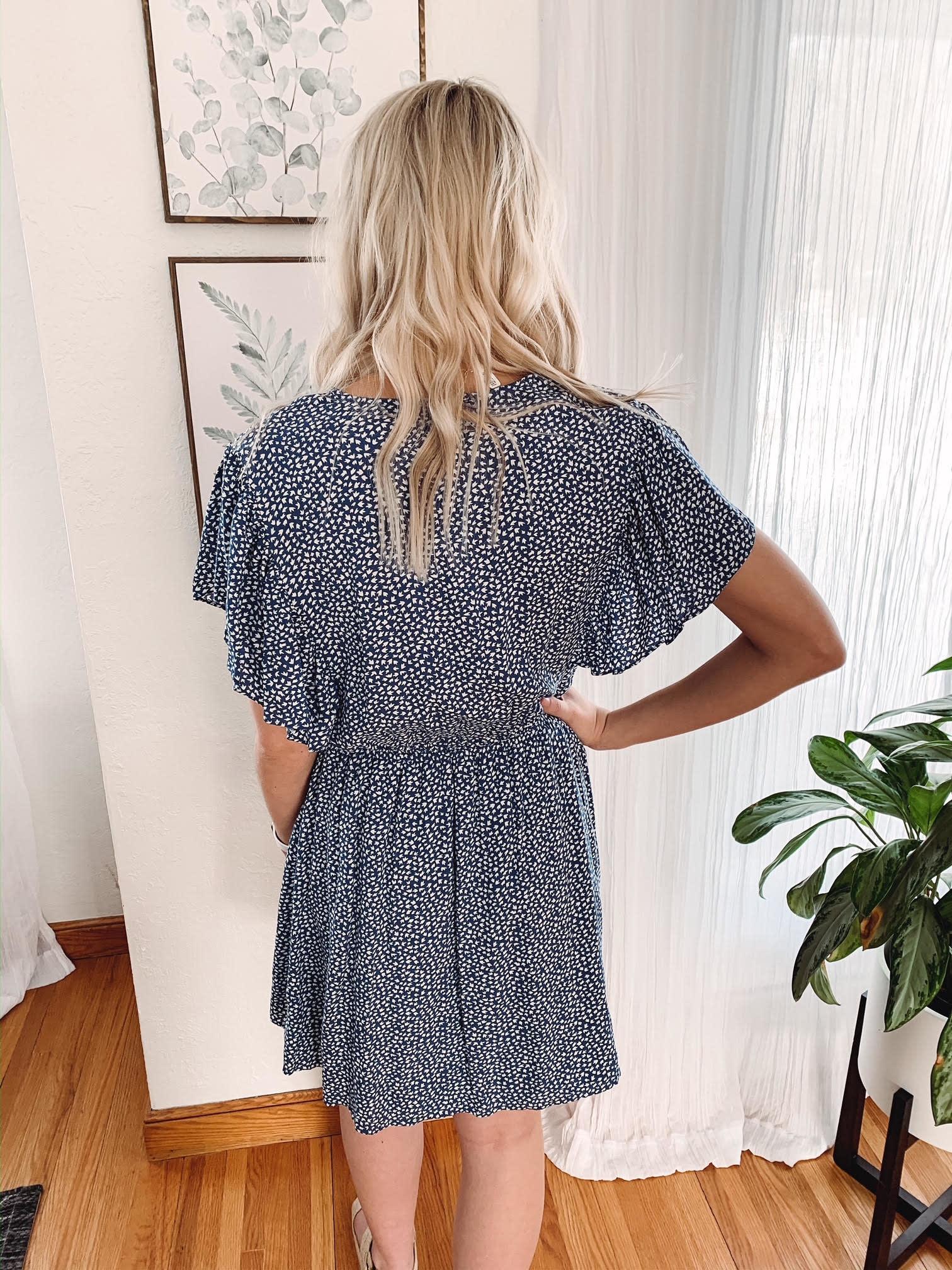 Beck Blue Printed Dress