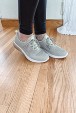 Zayda Taupe Knit Sneaker