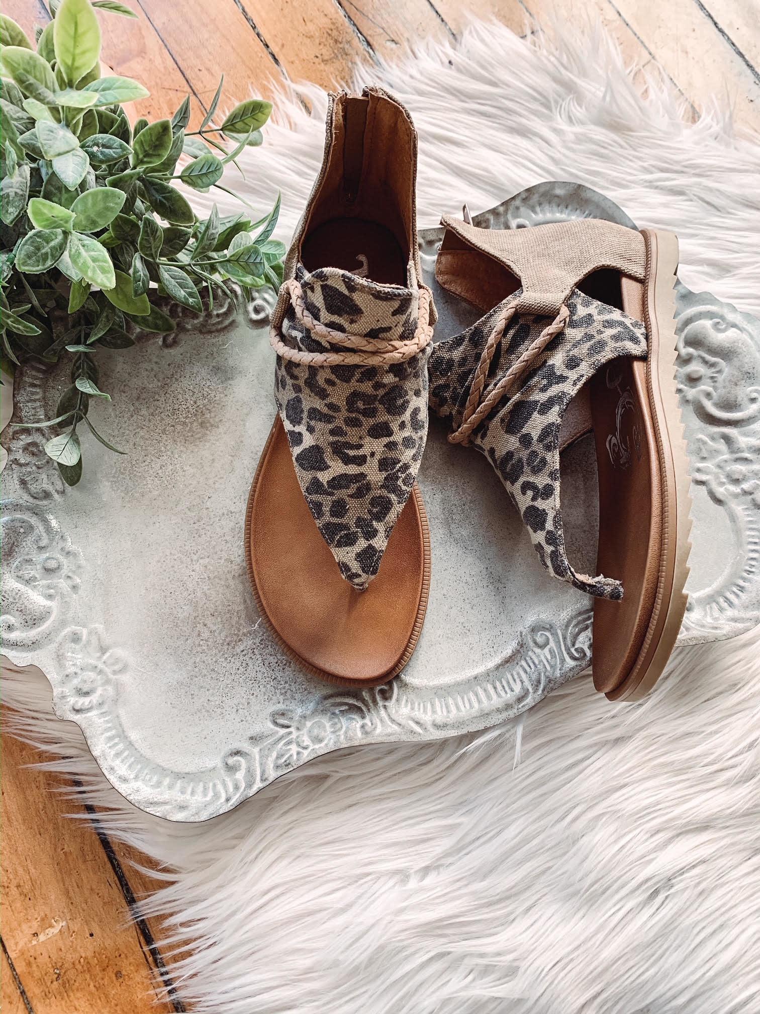 Tan Leopard Angelika Sandal
