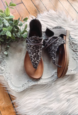 Grey Leopard Angelika Sandal