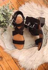 Black Double Strap Sandals