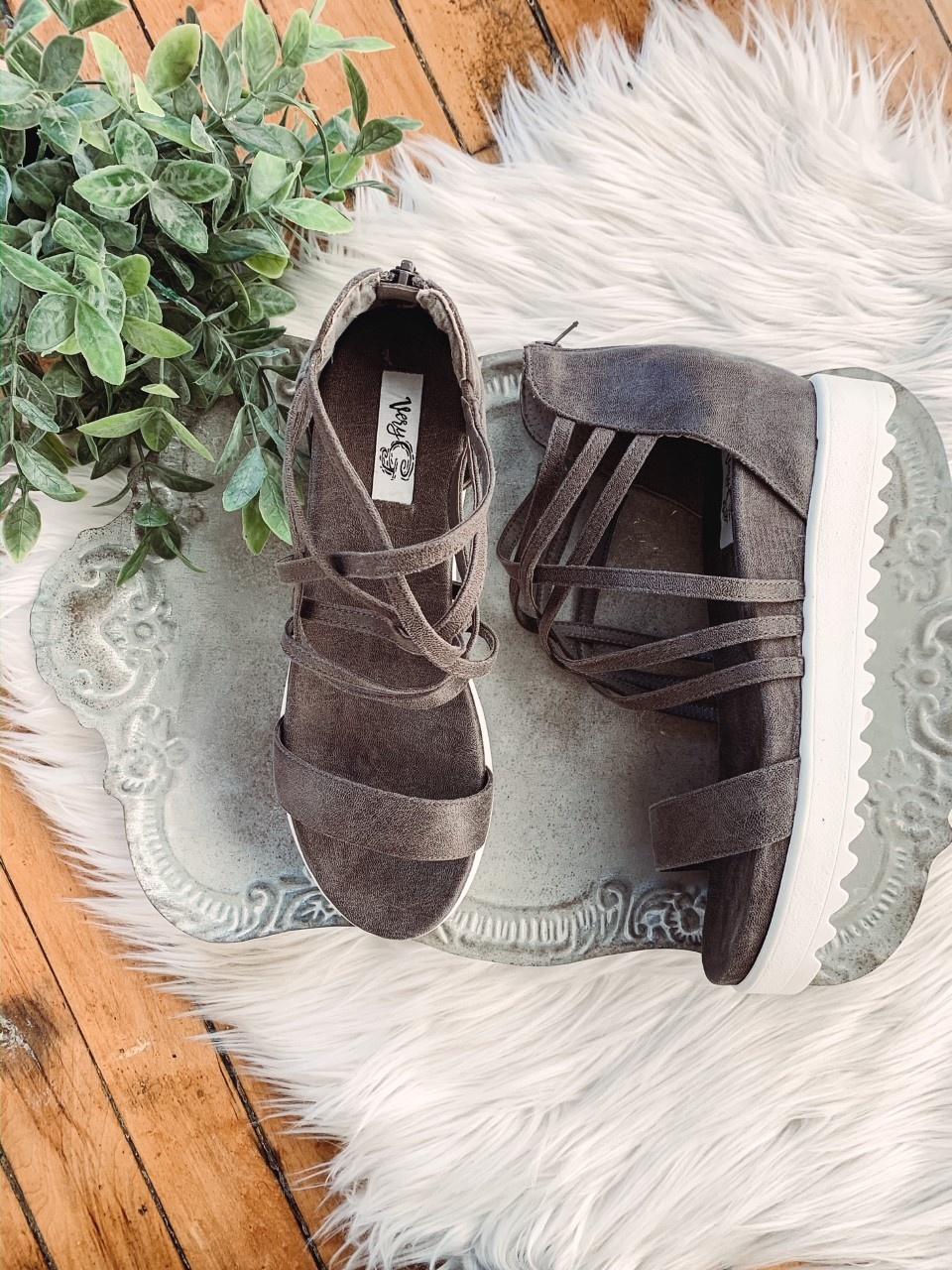 Gray Brooklyn Sandal