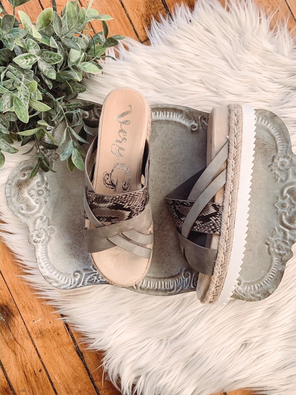 Macy Snakeskin Sandal