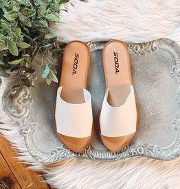 White Strap Sandal