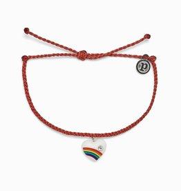 PuraVida Vintage Heart Red Bracelet