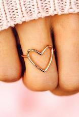 PuraVida Rose Gold Statement Heart Ring