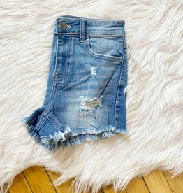 Emmy High Rise Distressed Shorts