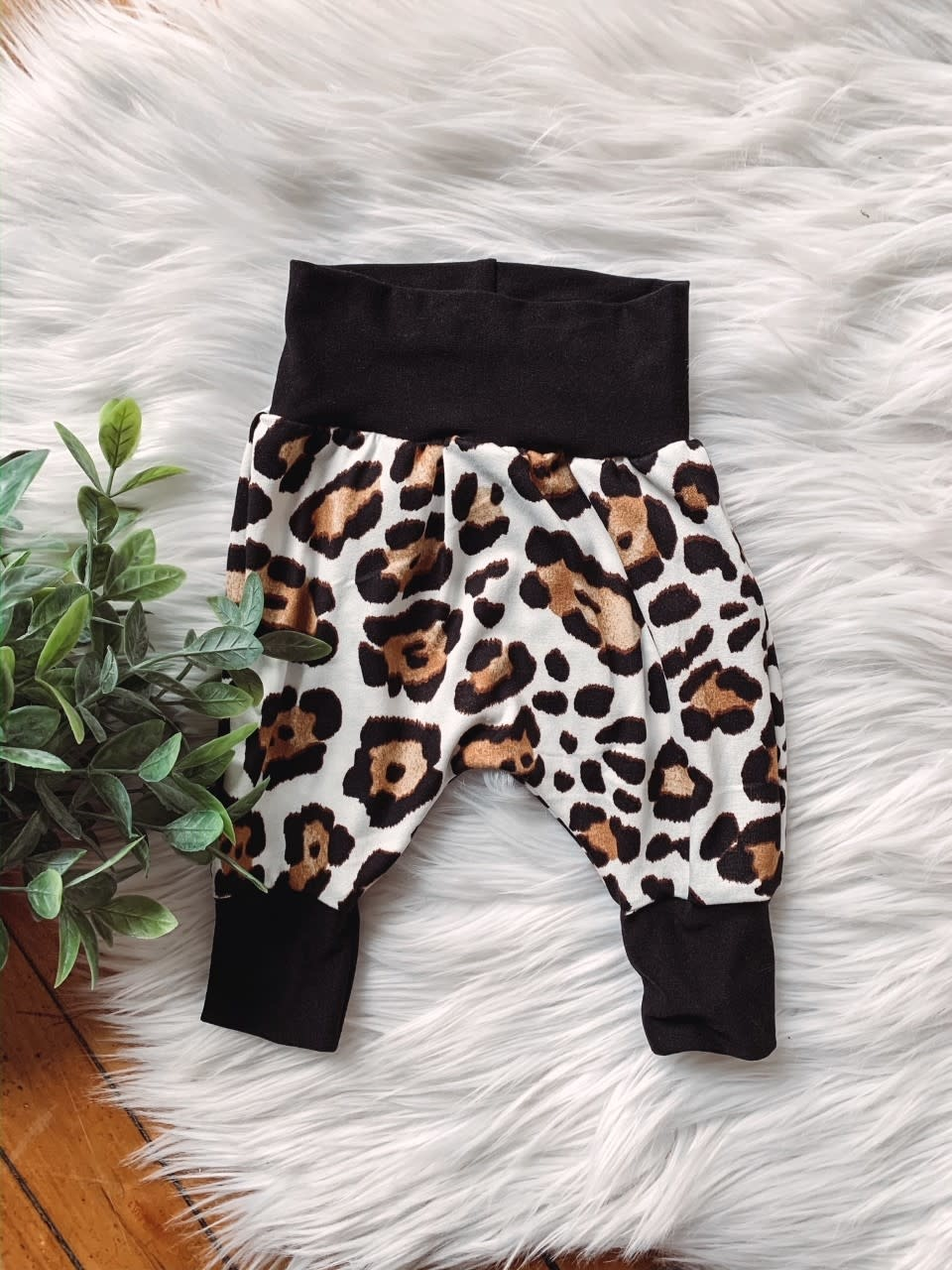 Light Leopard Baby Joggers