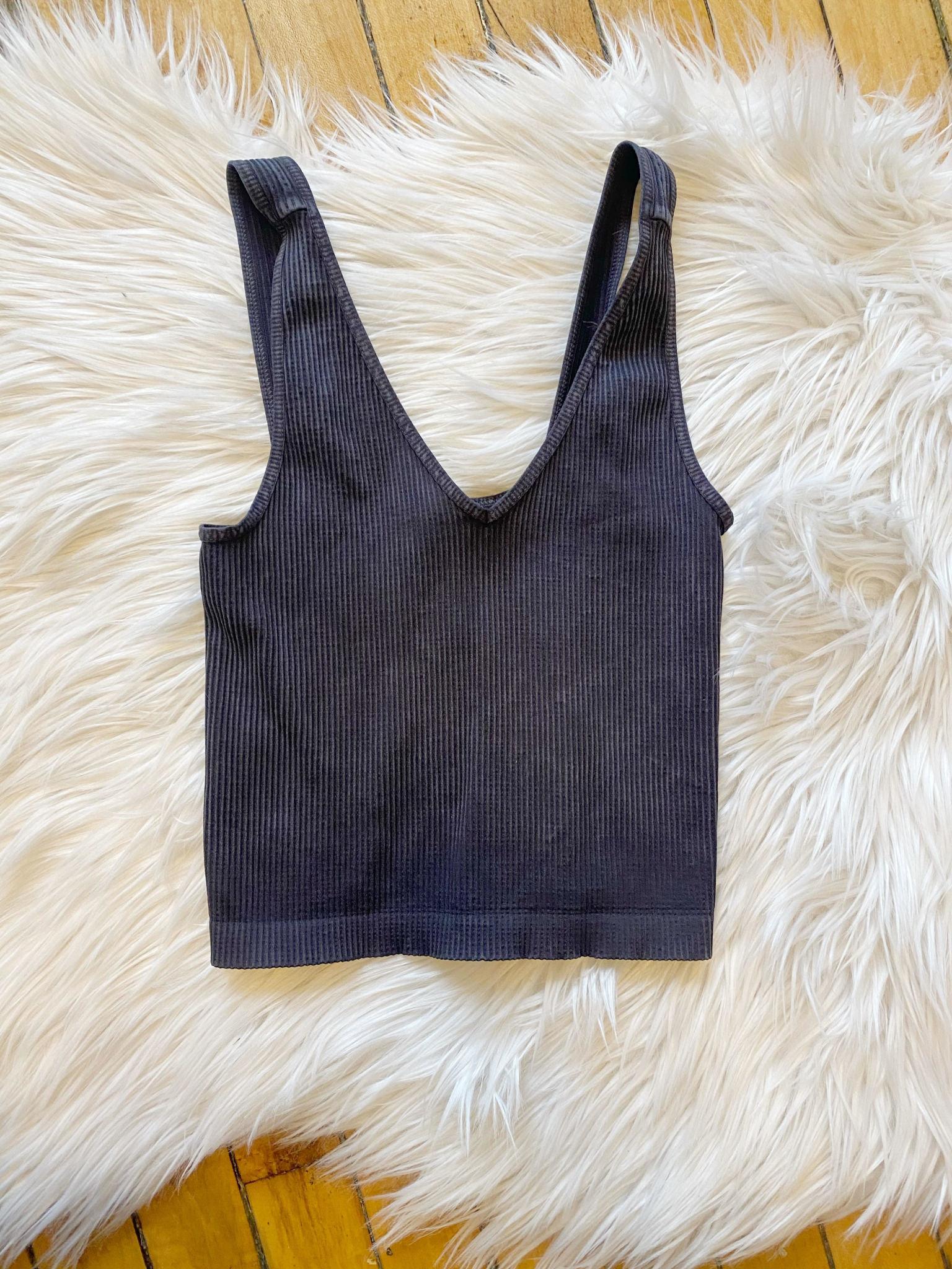 Vintage Black Crop Top