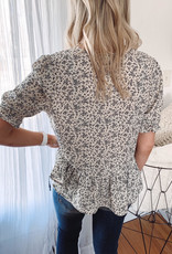 Charlie Ivory Floral Blouse