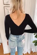 Black Wrap Bodysuit