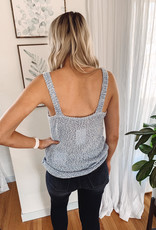 Olivia Blue Sweater Tank