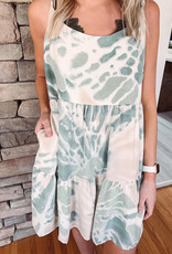 Brenna Tie Dye Tiered Dress