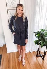 Kate Charcoal Knit Dress
