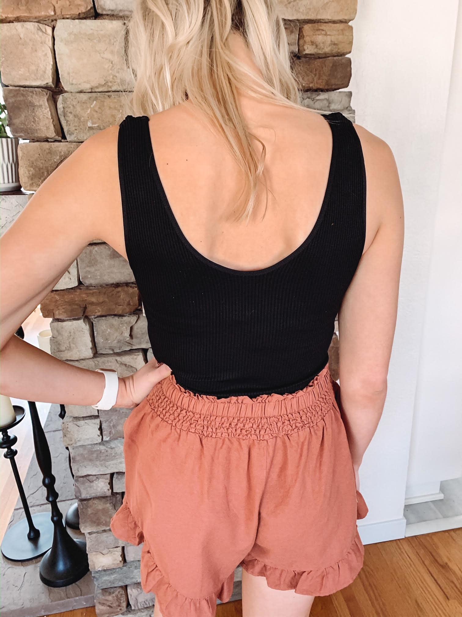 Stella Brick Ruffled Shorts