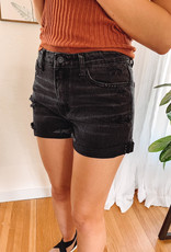 Indy Black Distressed Shorts