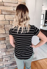 Jen Black Striped Top