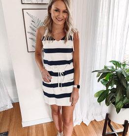 Nova Striped Navy Dress
