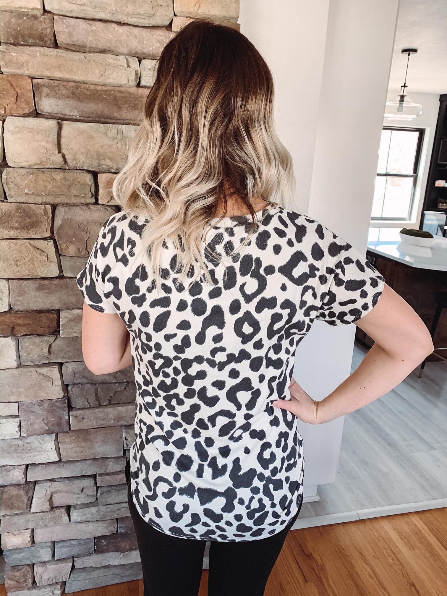 Mae Charcoal Leopard Top