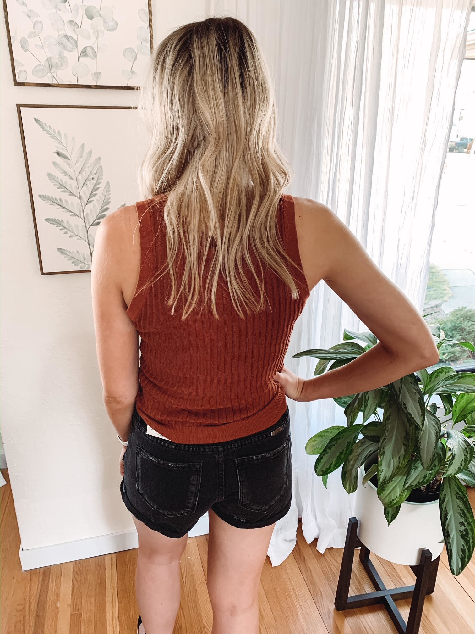 Madelyn Brick Button Tank