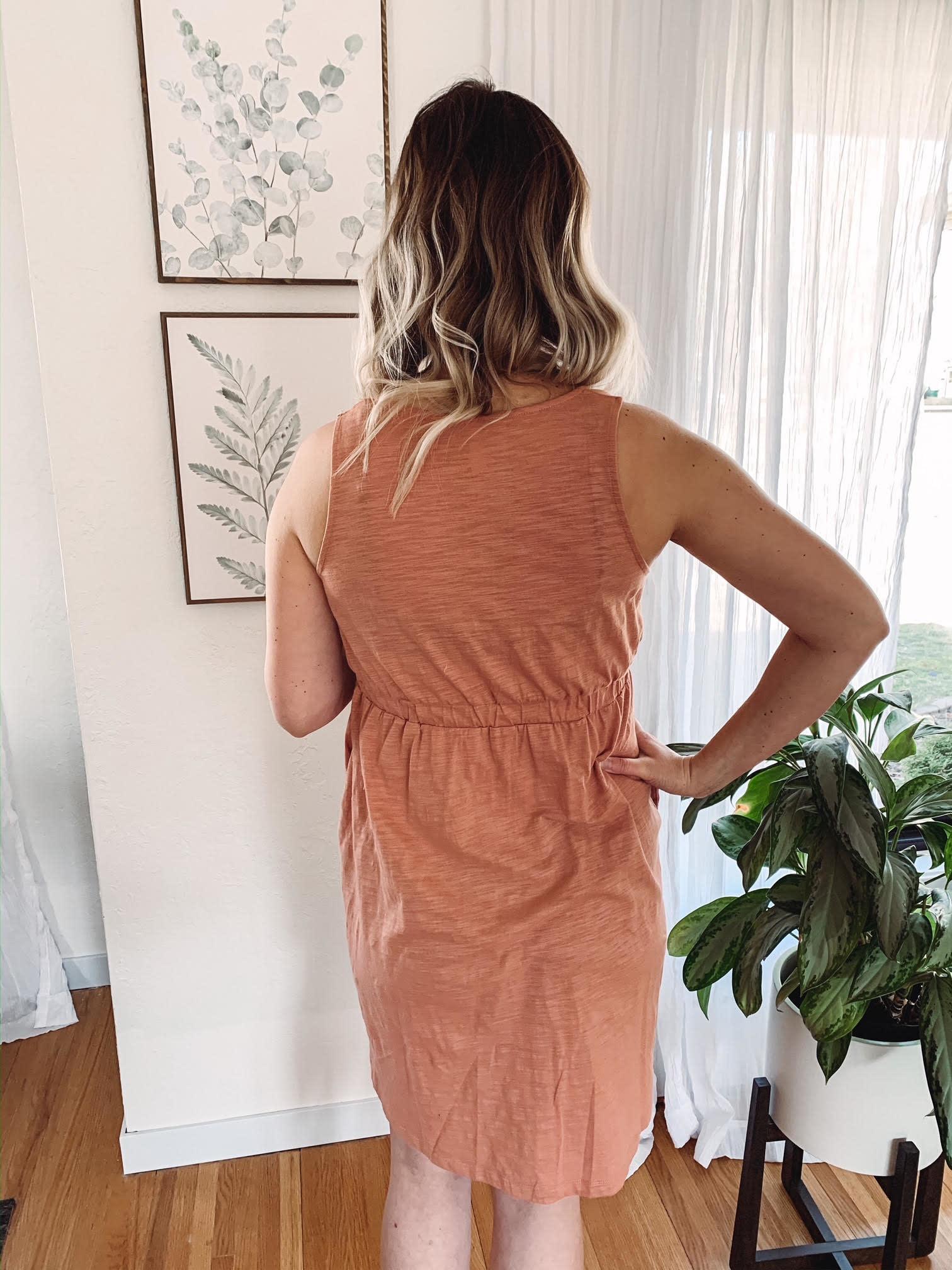 Hannah Ginger Button Dress