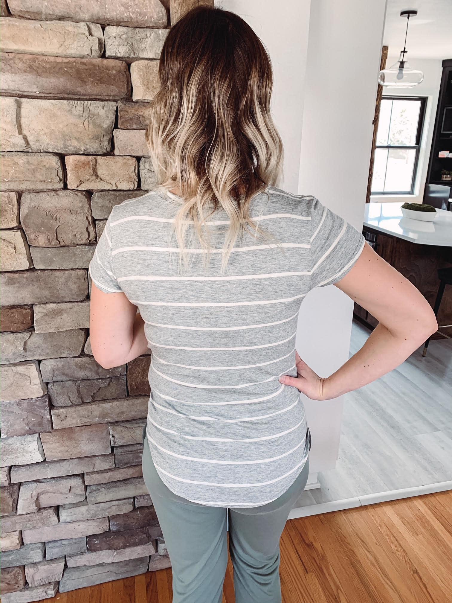 Jen Gray Striped Top