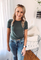 Willow Green Basic Tee
