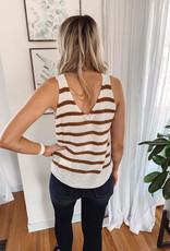 Sweater Tan Striped Tank