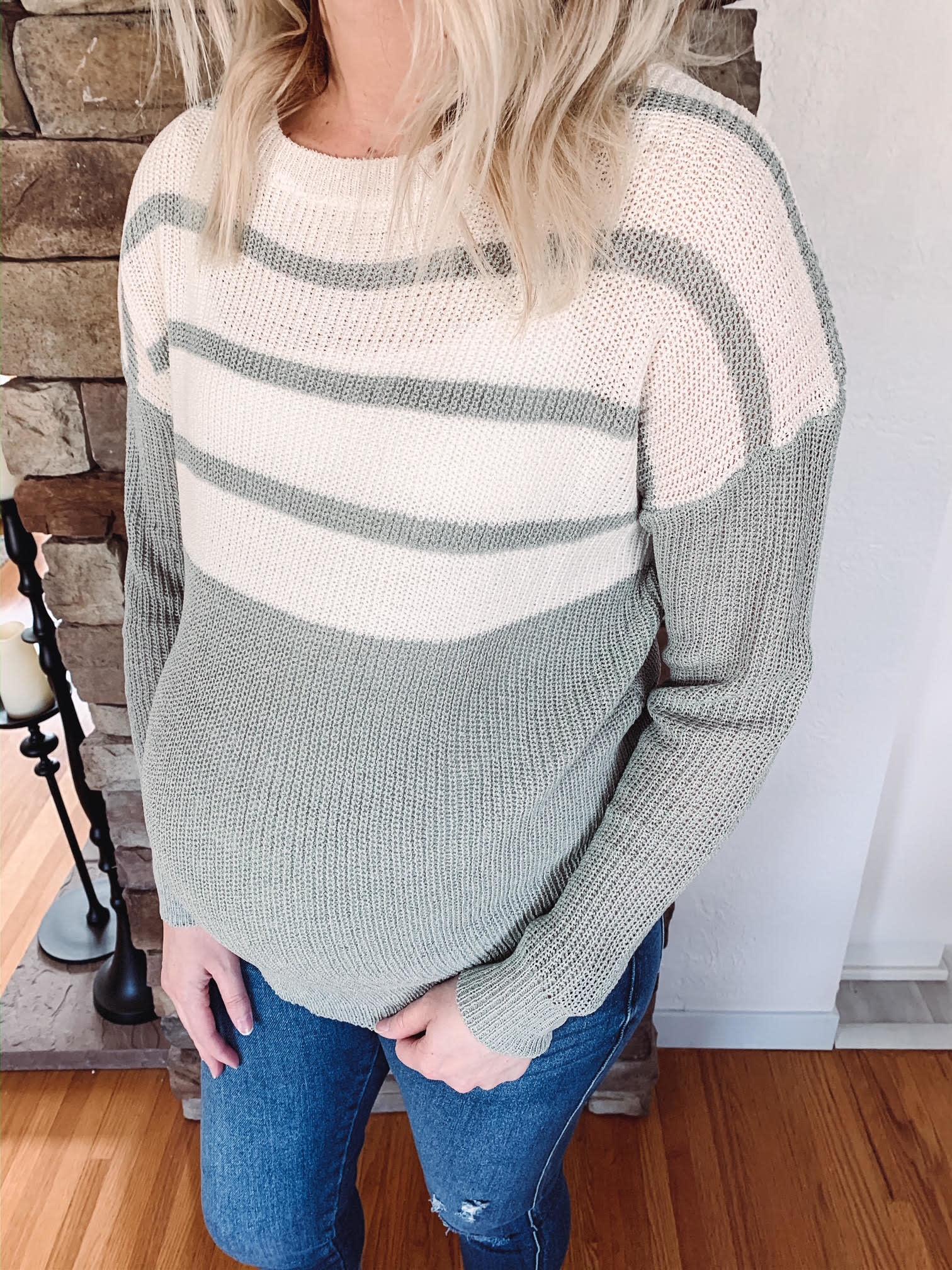 Misty Sage Sweater