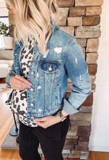Megan Distressed Denim Jacket