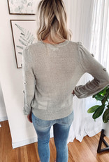 Tia Sage Pom Pom Sweater
