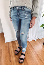 Carly Mid Rise Distressed Jeans