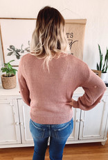 Mauve Pom Pom Sweater