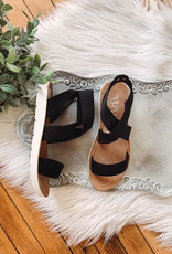 Misty Black Sandal