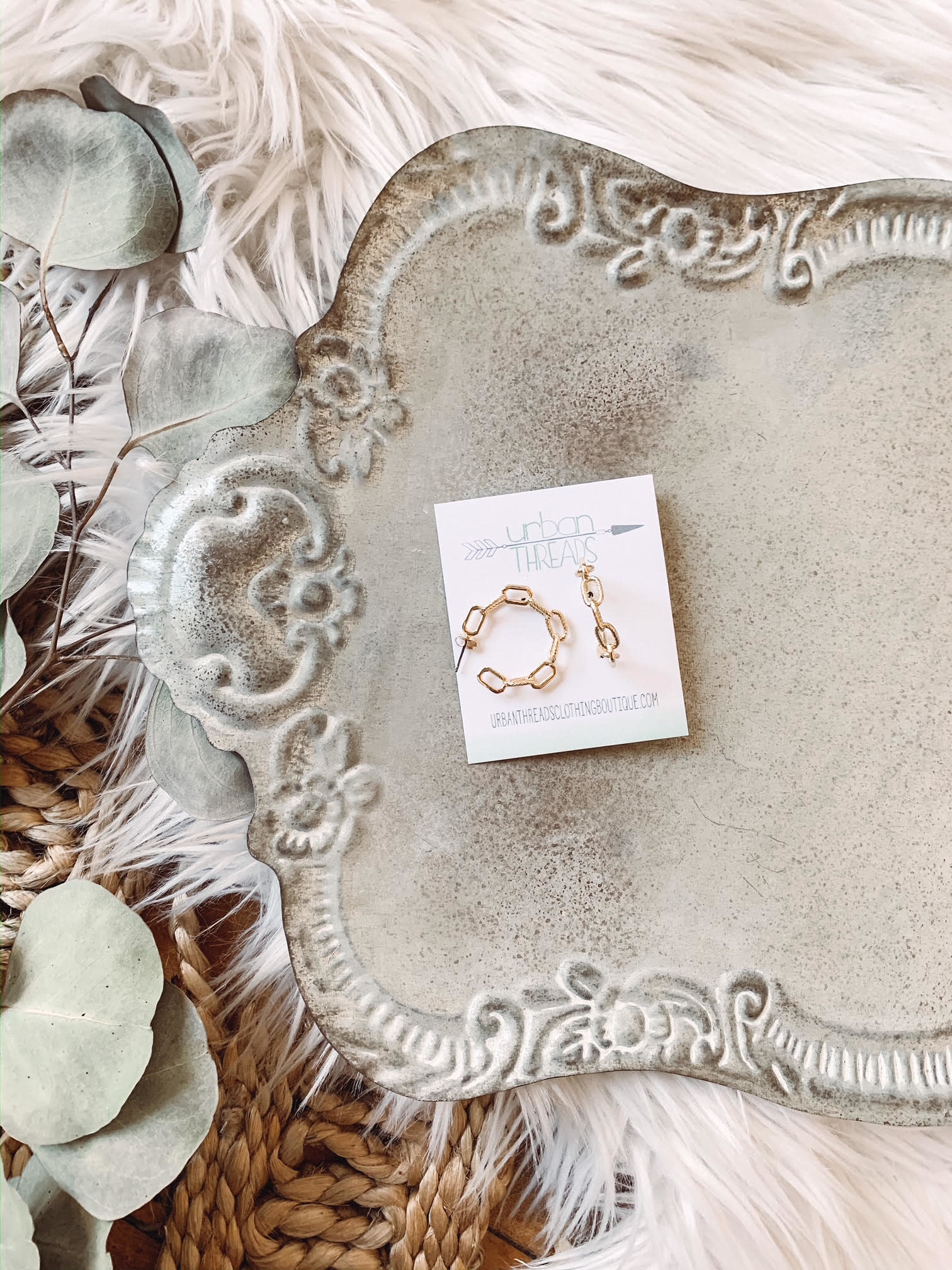 Gold Chain Linked Hoops