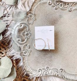 Jackie Rope Silver Earrings