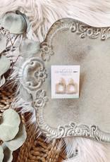Pearl Beaded Square Earrings