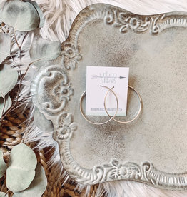 Kara Silver Hoop Earrings